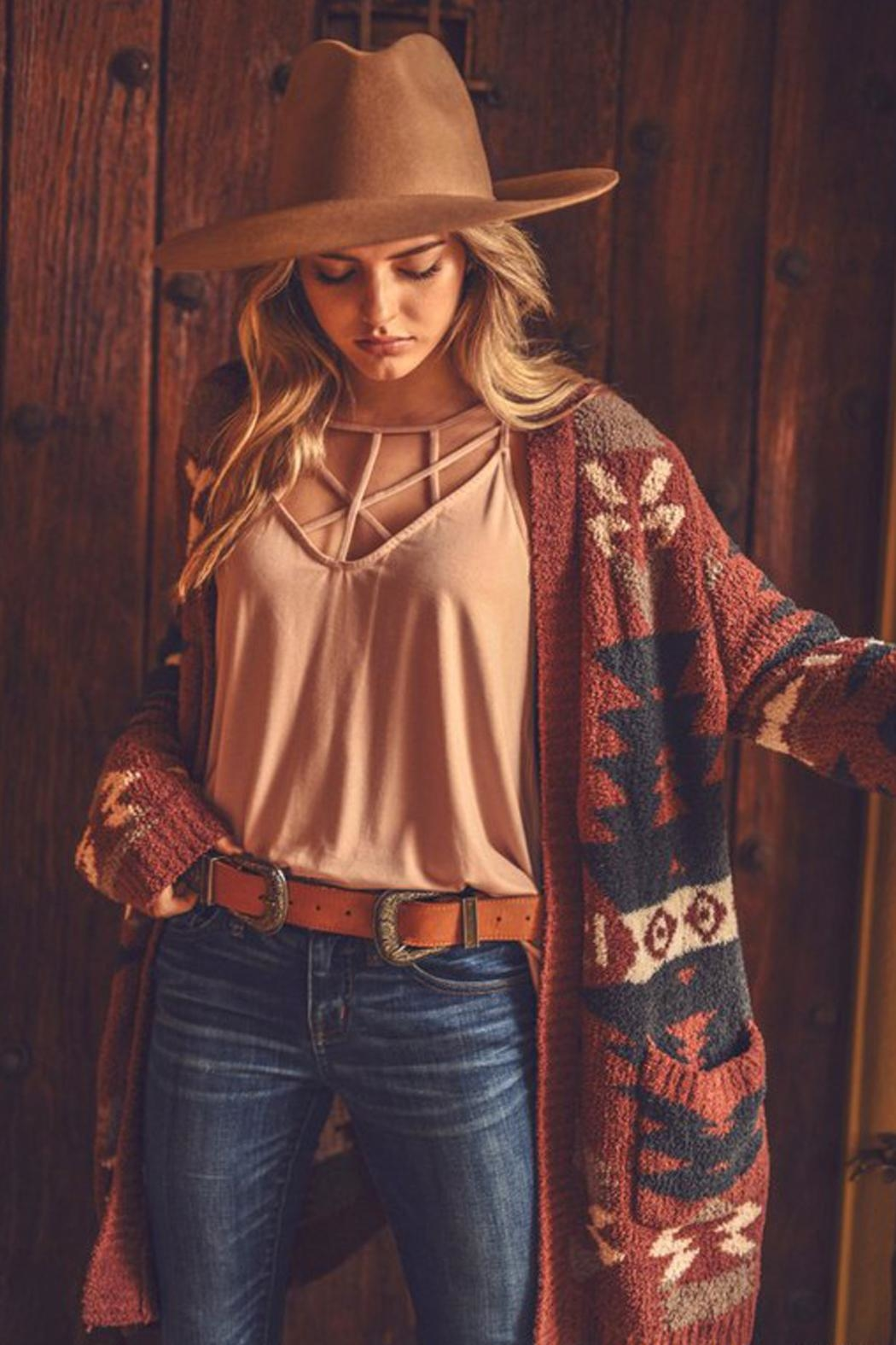 Wild Lilies Jewelry  Tribal Print Sweater - Side Cropped Image