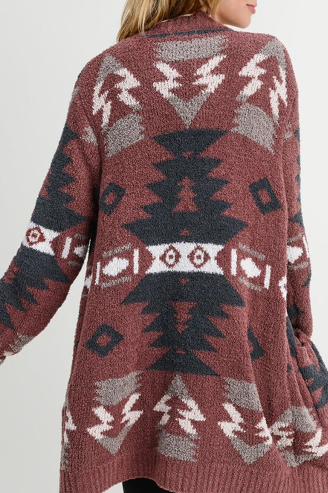 Wild Lilies Jewelry  Tribal Print Sweater - Back Cropped Image