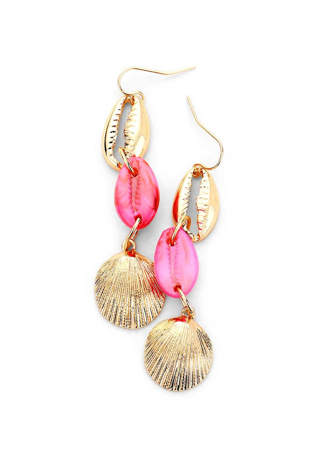 Wild Lilies Jewelry  Triple Shell Earrings - Front Cropped Image