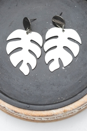 Wild Lilies Jewelry  Tropical Leaf Earrings - Front cropped