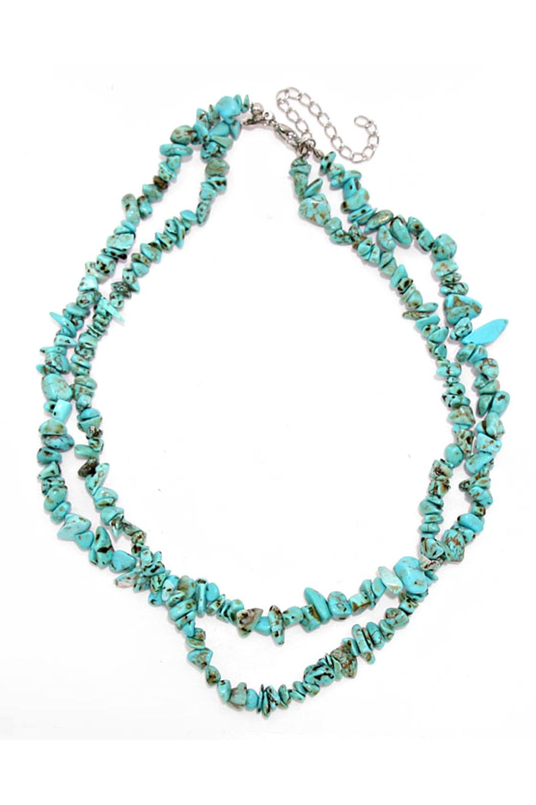 Wild Lilies Jewelry  Turquoise Beaded Necklace - Main Image