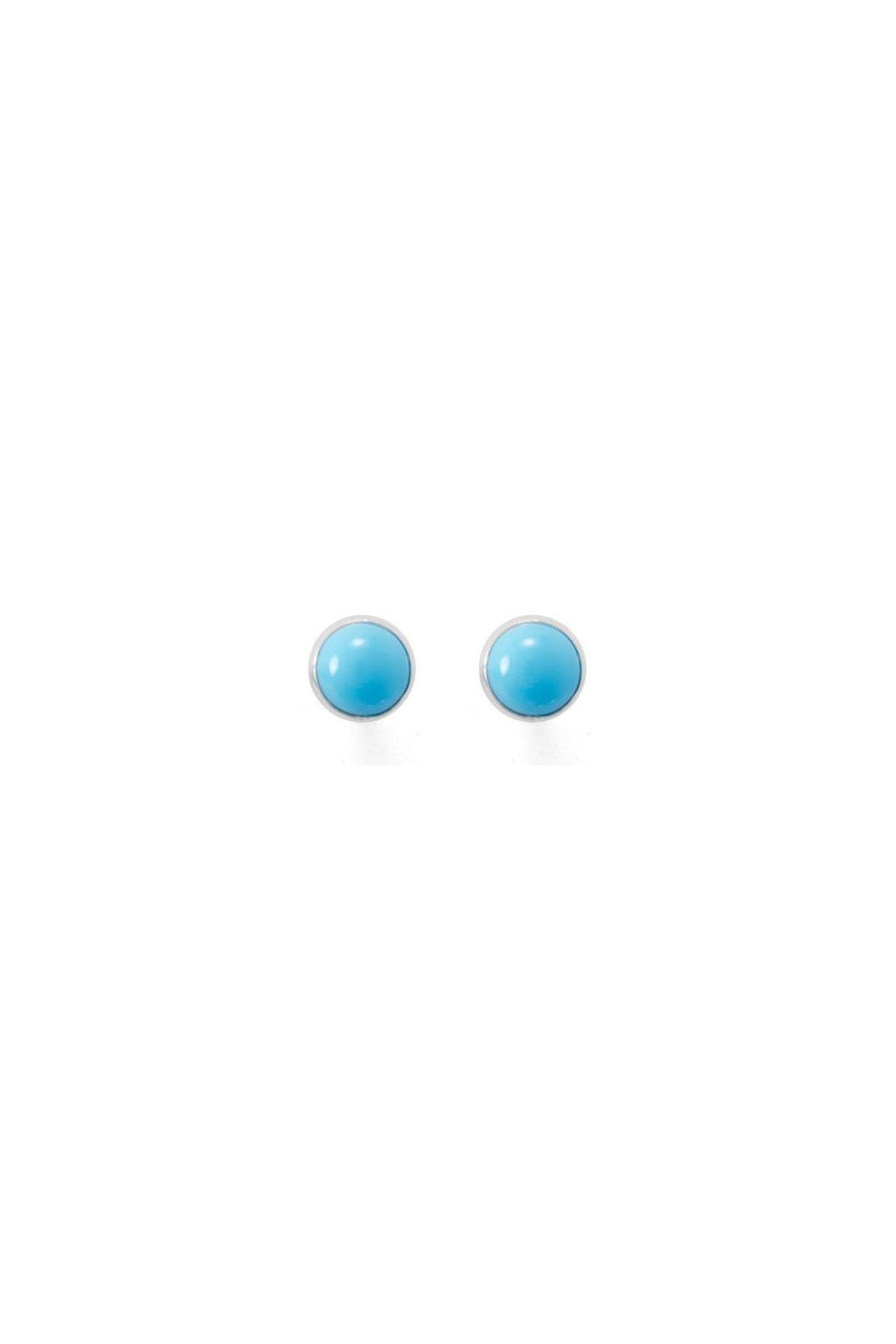 Wild Lilies Jewelry  Turquoise Button Studs - Main Image