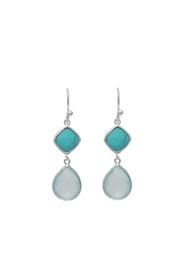 Wild Lilies Jewelry  Turquoise Chalcedony Earrings - Product Mini Image