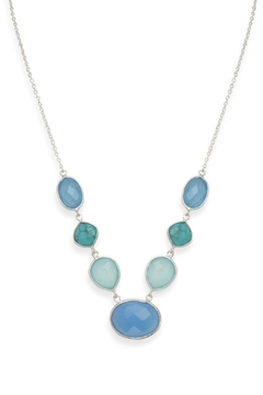 Shoptiques Product: Turquoise Chalcedony Necklace