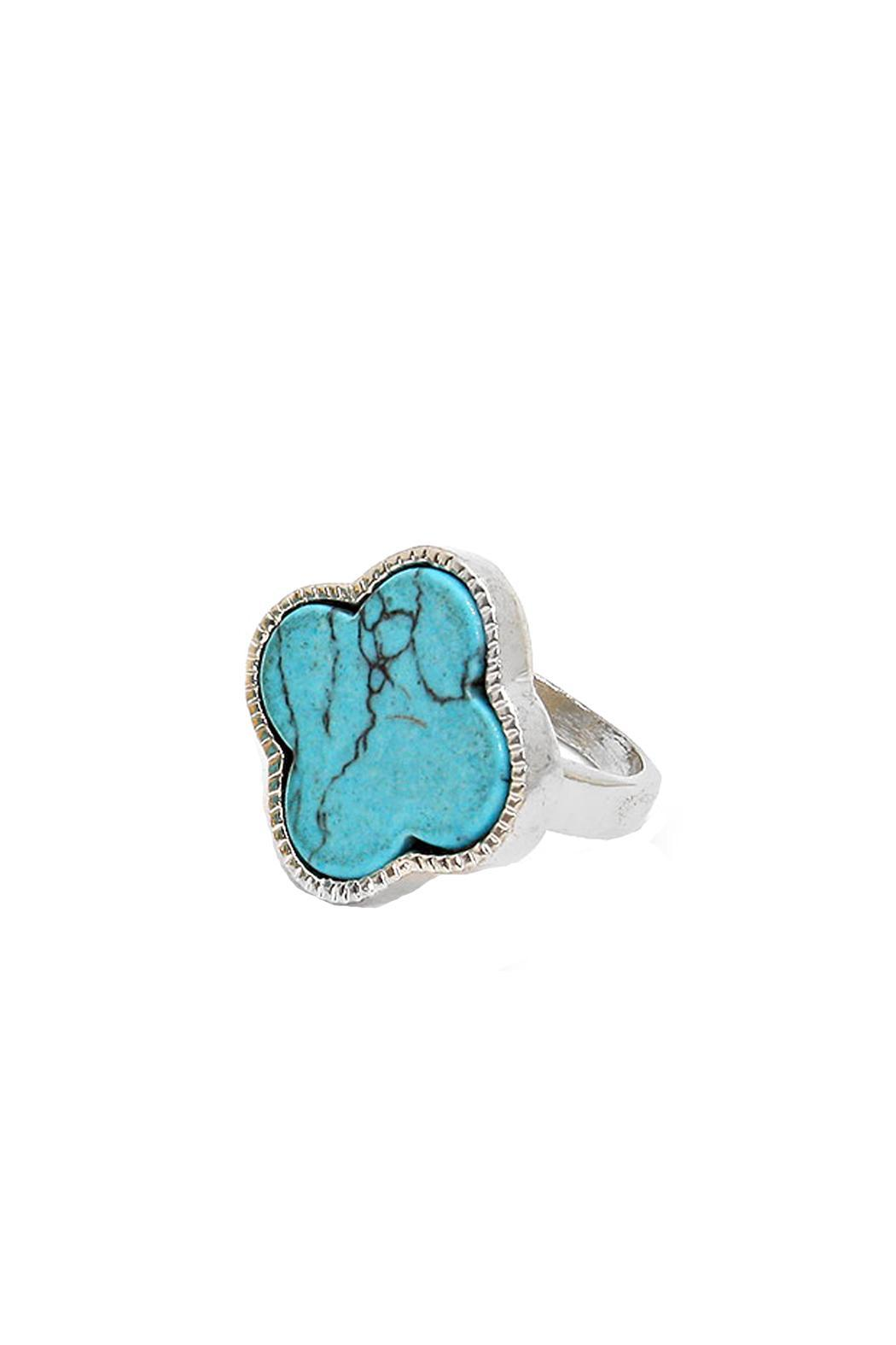 Wild Lilies Jewelry  Turquoise Clover Ring - Main Image