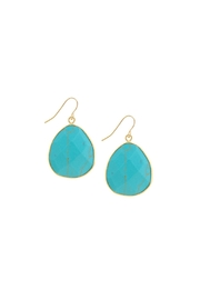 Wild Lilies Jewelry  Turquoise Drop Earrings - Front cropped