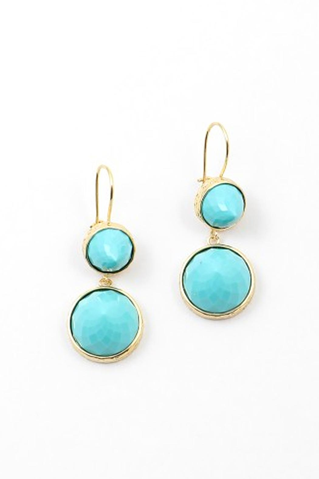 Wild Lilies Jewelry  Turquoise Drop Earrings - Main Image