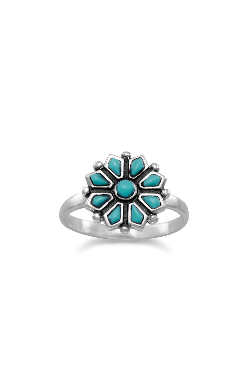 Wild Lilies Jewelry  Turquoise Flower Ring - Main Image