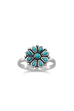 Wild Lilies Jewelry  Turquoise Flower Ring - Product List Image