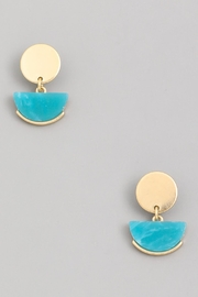 Wild Lilies Jewelry  Turquoise Geometric Earrings - Product Mini Image