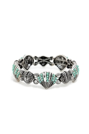 Wild Lilies Jewelry  Turquoise Seashell Bracelet - Front cropped