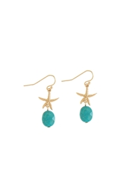 Wild Lilies Jewelry  Turquoise Starfish Earrings - Product Mini Image