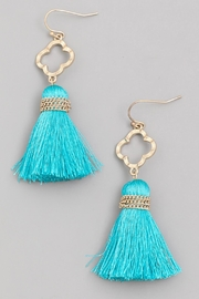Wild Lilies Jewelry  Turquoise Tassel Earrings - Product Mini Image