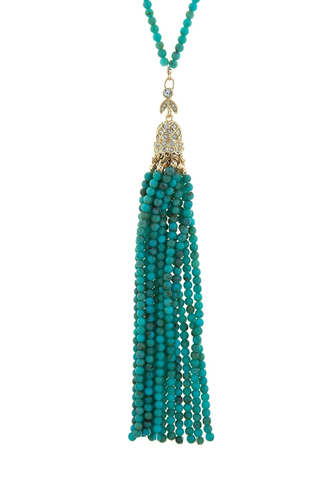 Wild Lilies Jewelry  Turquoise Tassel Necklace - Main Image
