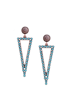 Shoptiques Product: Turquoise Triangle Earrings