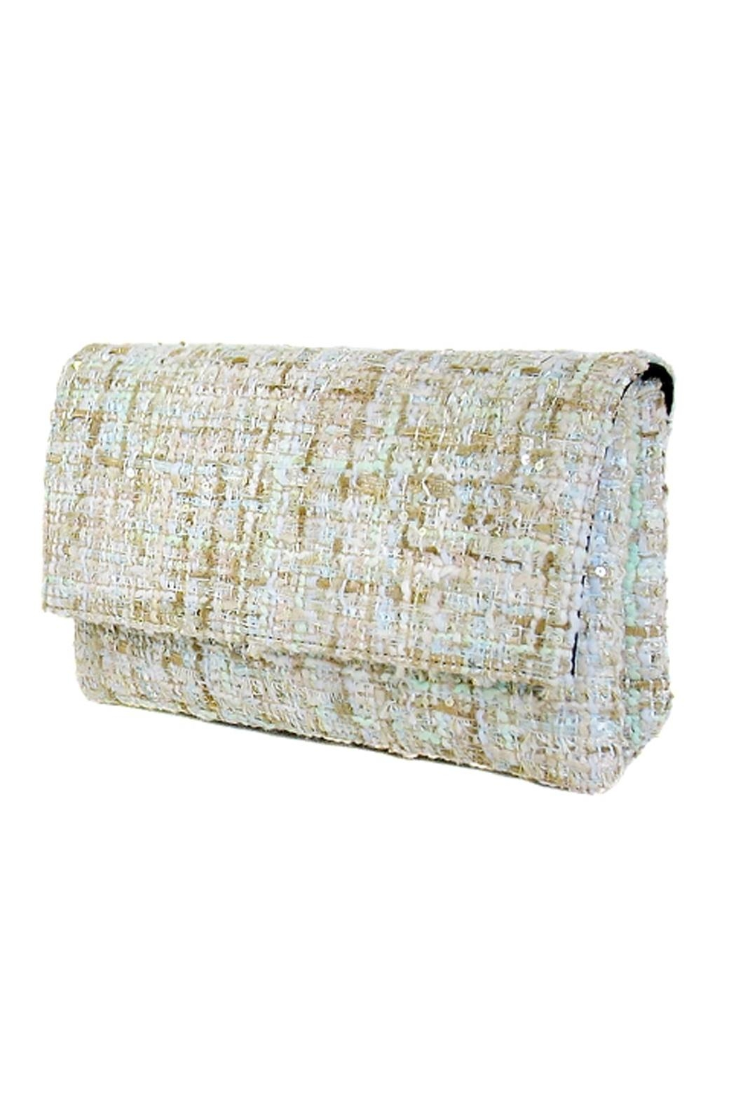 Wild Lilies Jewelry  Tweed Envelope Clutch - Front Full Image