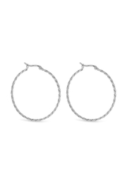Wild Lilies Jewelry  Twister Sterling Hoops - Front cropped