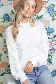 Wild Lilies Jewelry  White Cropped Turtleneck - Product Mini Image