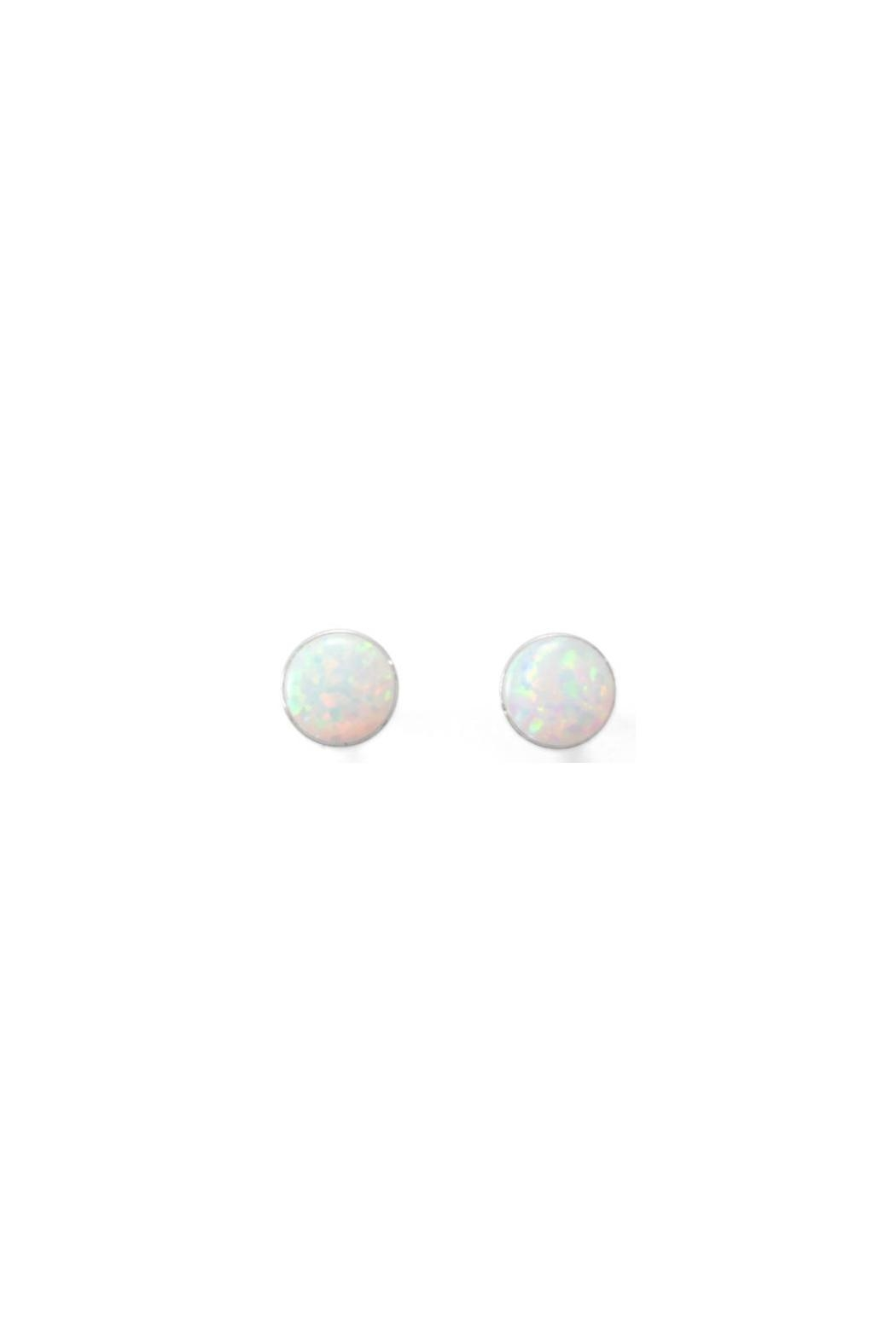 Wild Lilies Jewelry  White Opal Studs - Front Cropped Image