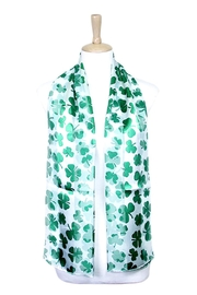 Wild Lilies Jewelry  White Shamrock Scarf - Front cropped