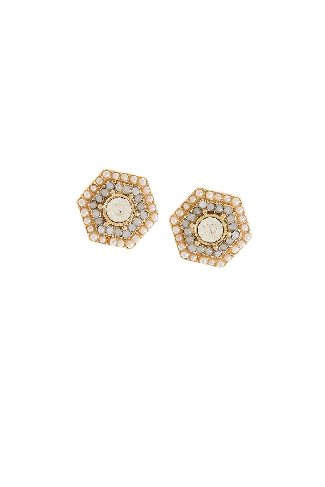 Wild Lilies Jewelry  White Stud Earrings - Main Image