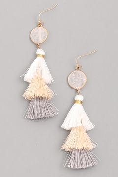 Wild Lilies Jewelry  White Tassel Earrings - Alternate List Image