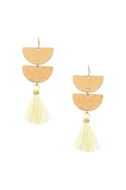 Wild Lilies Jewelry  White Tassel Earrings - Product Mini Image