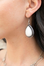 Wild Lilies Jewelry  White Teardrop Earrings - Product Mini Image