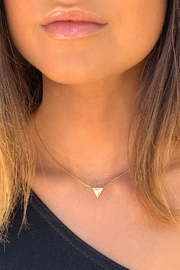 Wild Lilies Jewelry  White Triangle Necklace - Product Mini Image