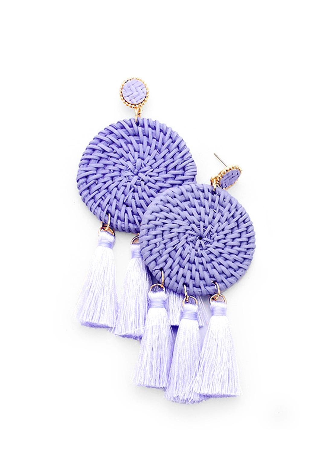 Wild Lilies Jewelry  Woven Tassel Earrings - Front Cropped Image