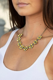 Wild Lilies Jewelry  Yellow Flower Necklace - Front cropped