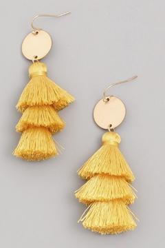 Wild Lilies Jewelry  Yellow Tassel Earrings - Alternate List Image