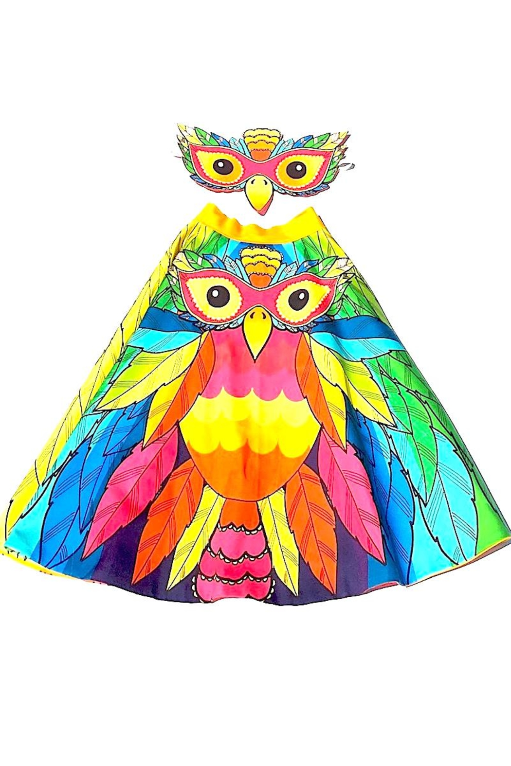 Wild Things Parrot Play Cape - Front Cropped Image