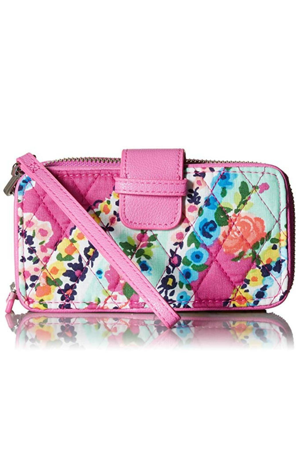 Vera Bradley Wildflower Paisley Smartphone-Wristlet - Front Cropped Image
