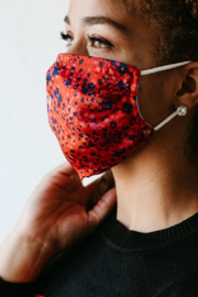 Soul Perch Wildflower Satin Face Mask - Back cropped