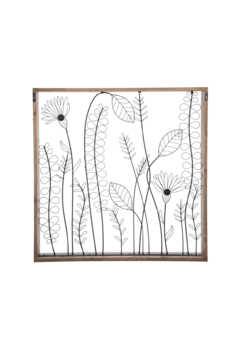 Foreside Home & Garden Wildflower Silhouette Wall Art - Product List Image
