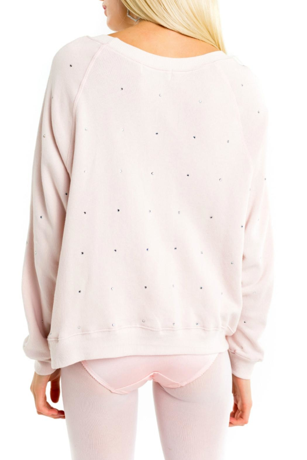 Wildfox All-Over-Glitz Sweatshirt - Side Cropped Image