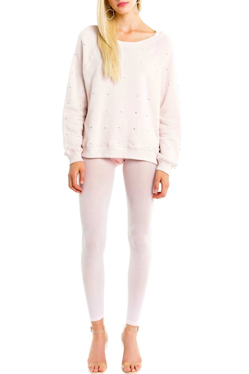Wildfox All-Over-Glitz Sweatshirt - Front Cropped Image
