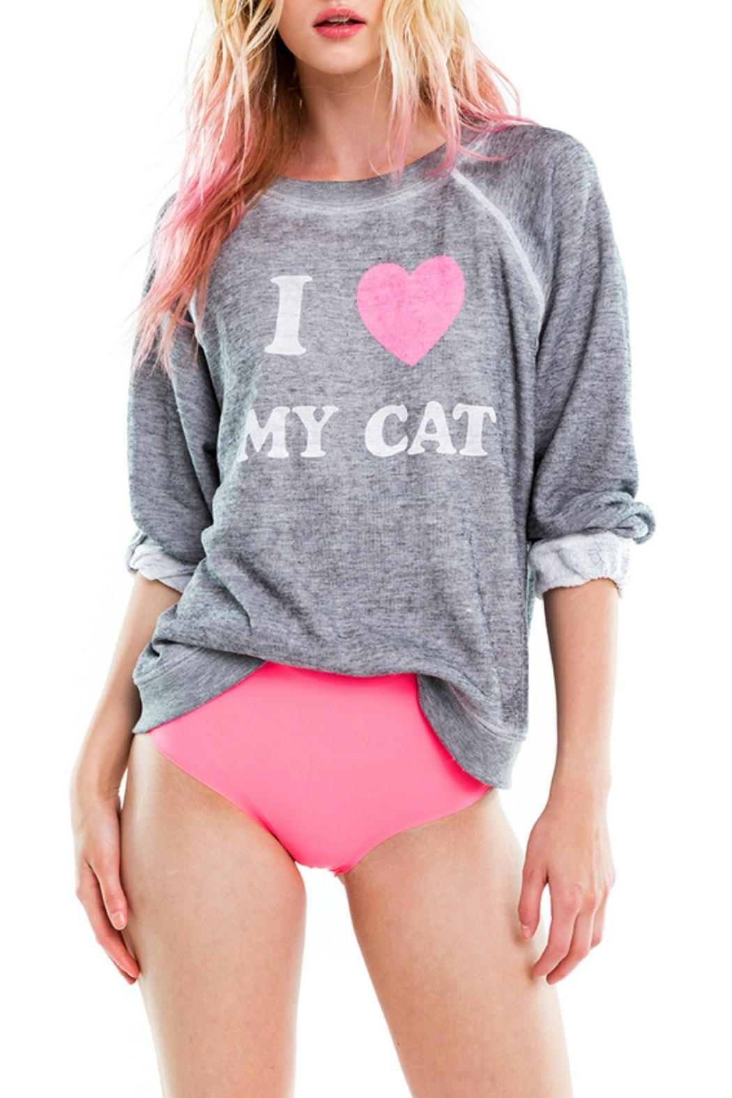Wildfox Cat Mom Sweatshirt - Main Image