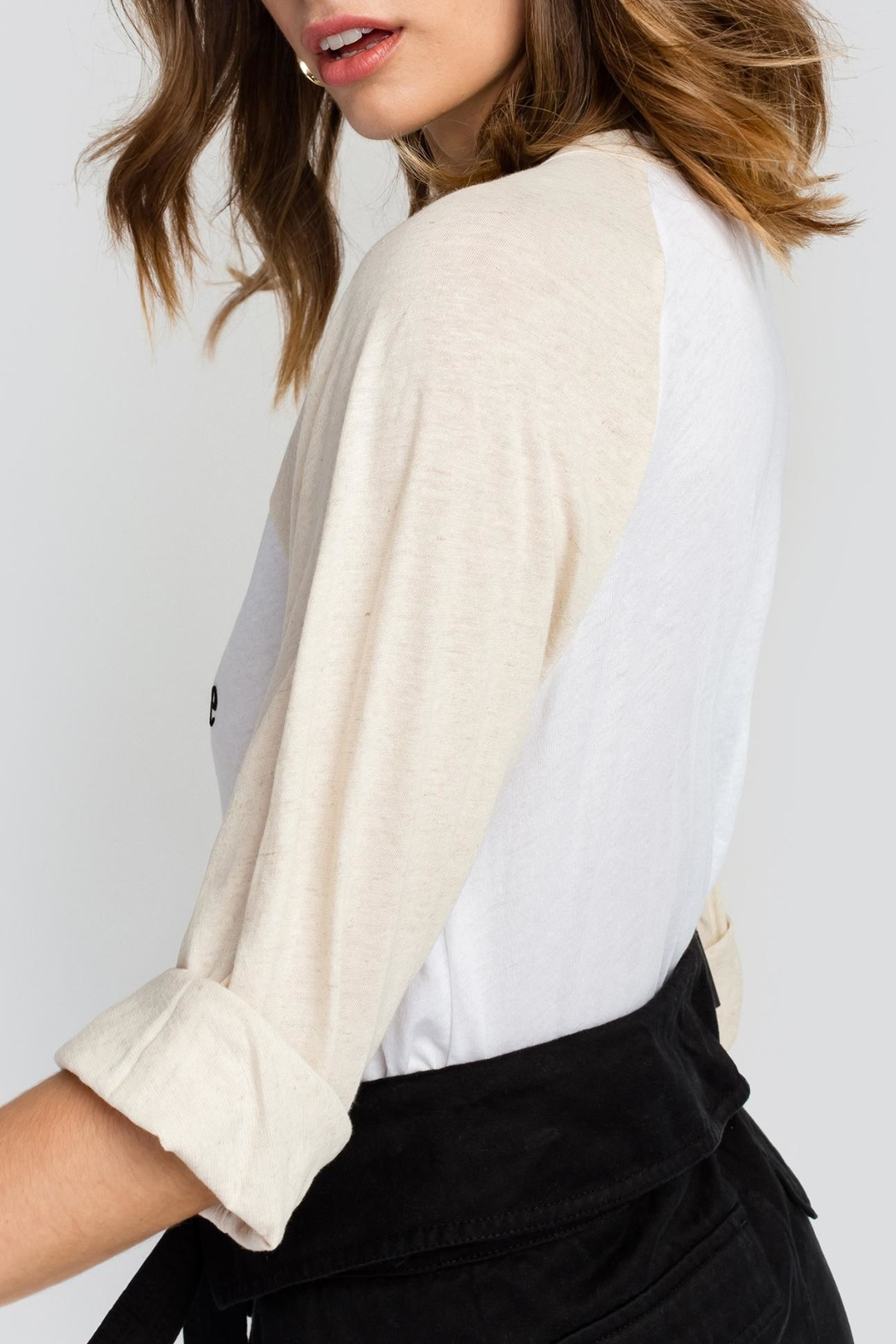 Wildfox Don't Care Raglan Tee - Side Cropped Image