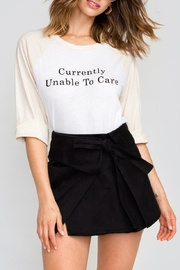 Wildfox Don't Care Raglan Tee - Front cropped