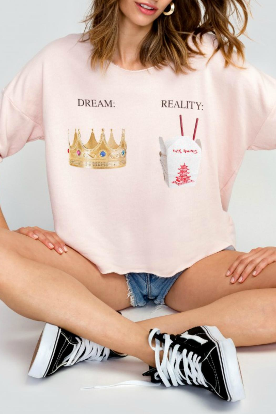 Wildfox Dream Vs. Reality Sweater - Front Cropped Image