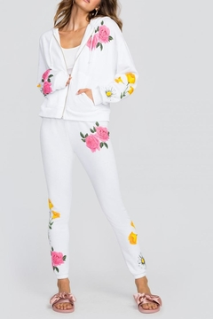 Wildfox White Floral Hooded Sweater - Alternate List Image