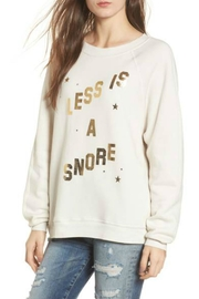 Wildfox Less-Is-A-Snore Sweatshirt - Product Mini Image