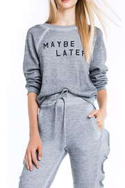 Wildfox Maybe Later Sweatshirt - Product Mini Image