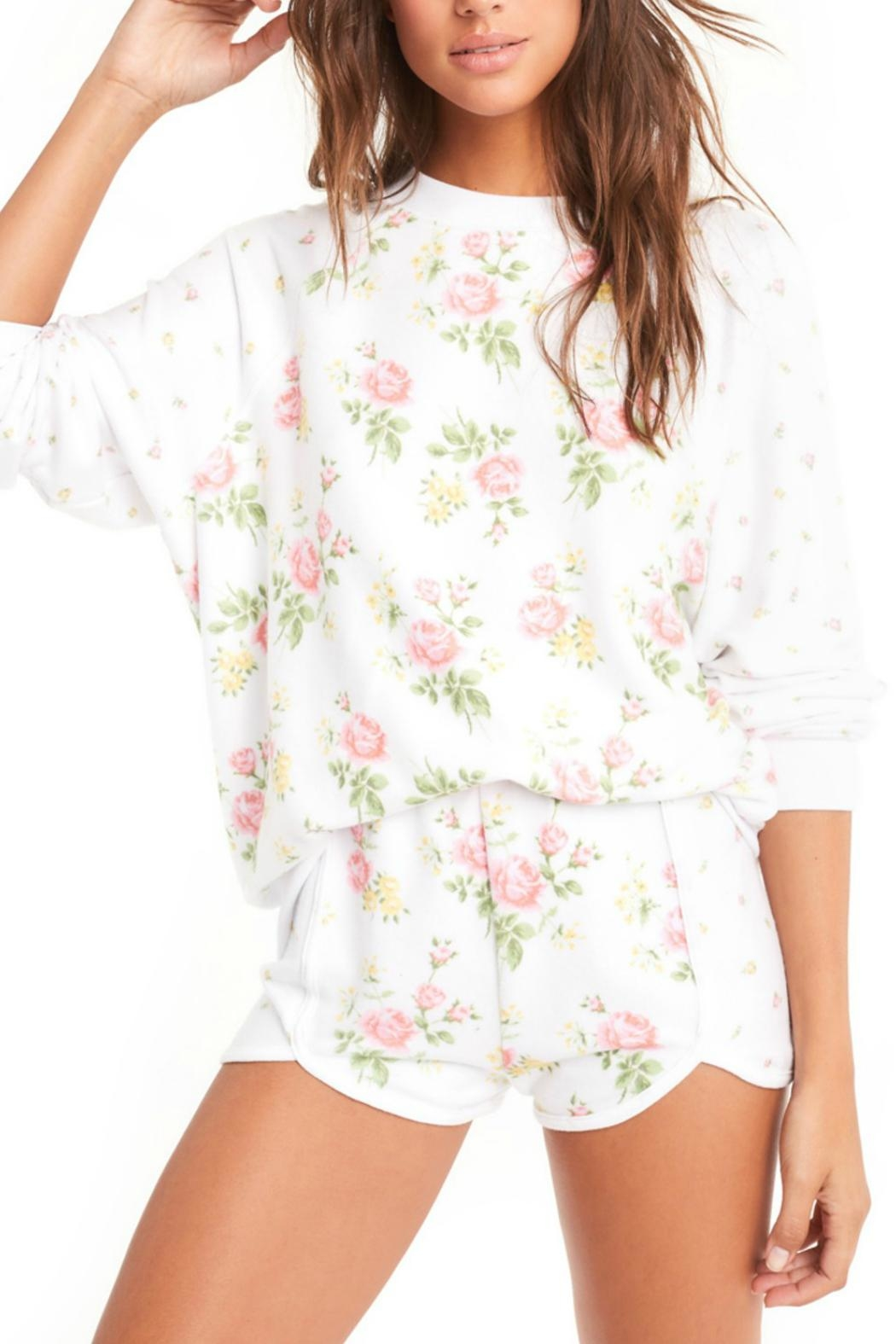 Wildfox Patchwork Floral Sweater - Main Image