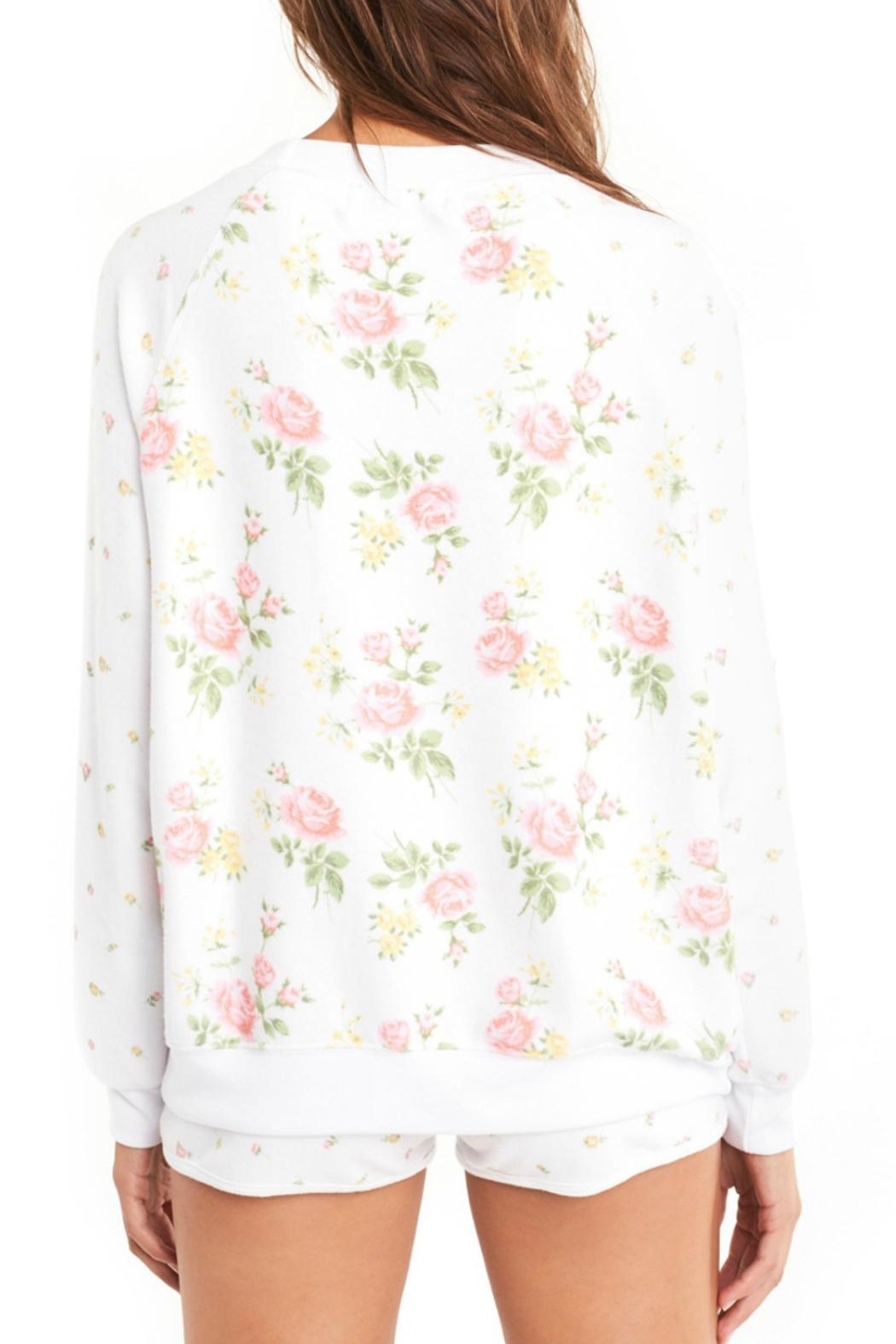 Wildfox Patchwork Floral Sweater - Back Cropped Image