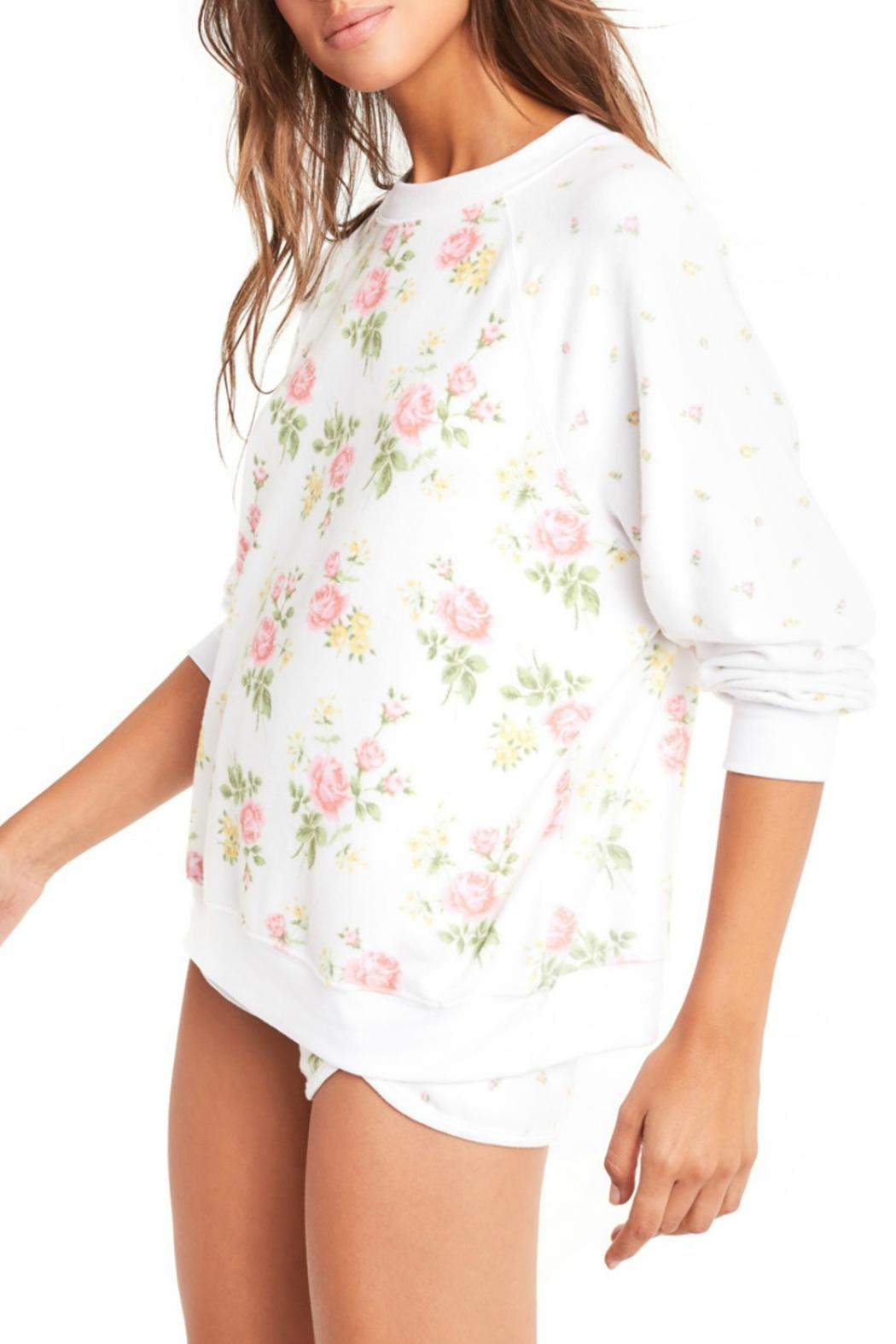 Wildfox Patchwork Floral Sweater - Side Cropped Image