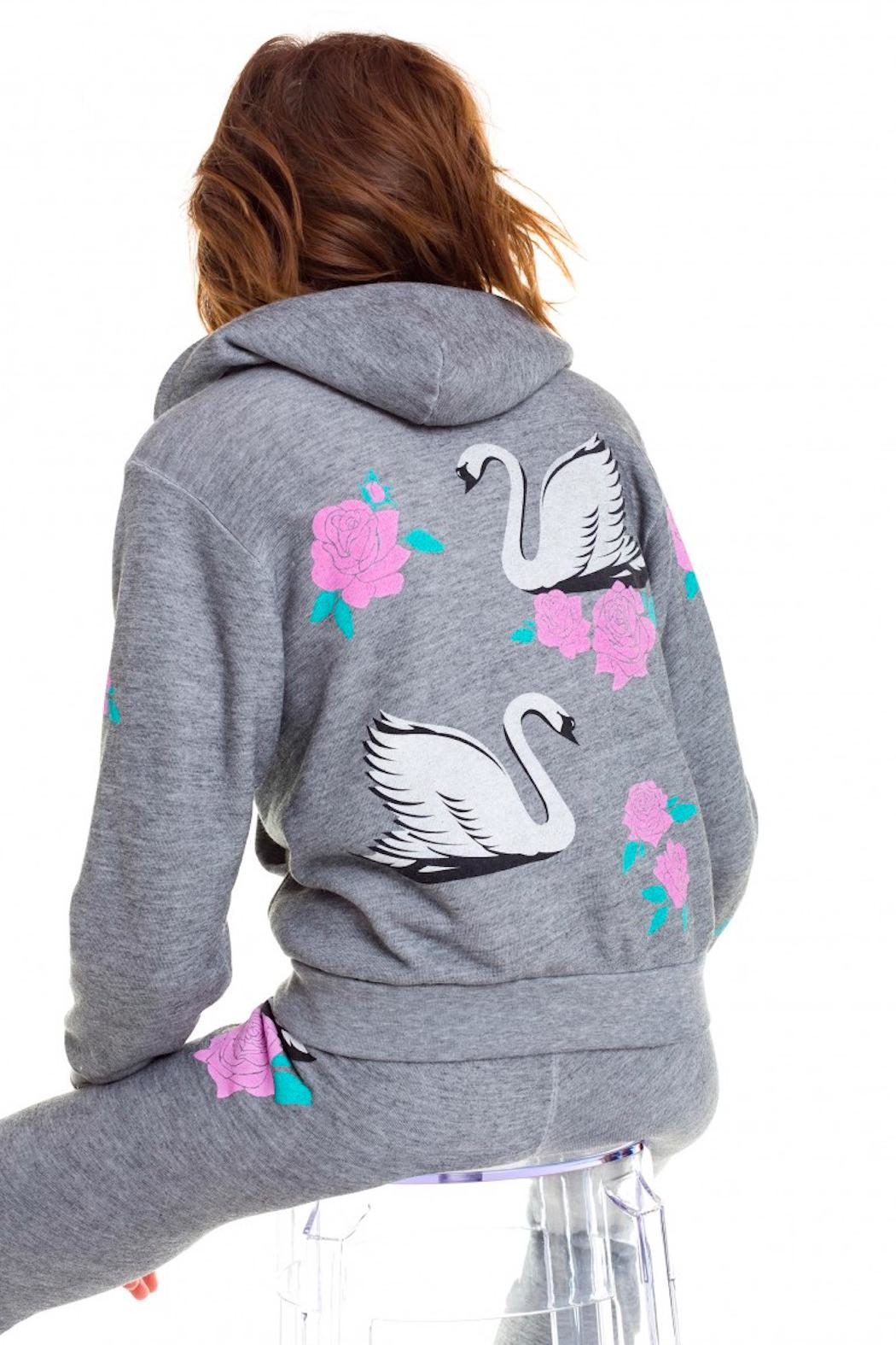 Wildfox Regan Swan Hoodie - Side Cropped Image