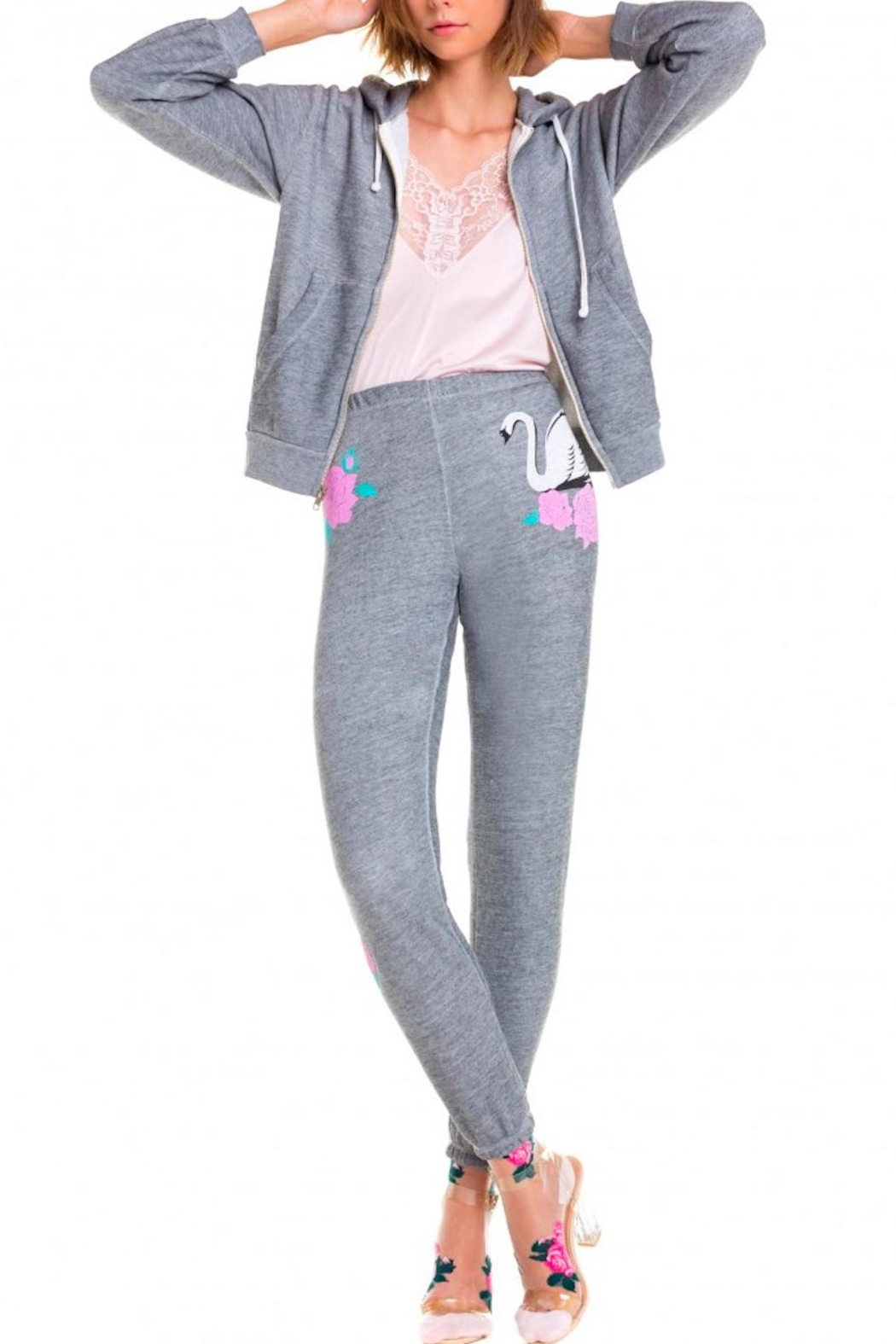 Wildfox Swans Crossing Sweatpants - Front Cropped Image